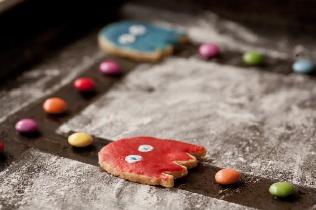 Pacman Cookie blue Ghost